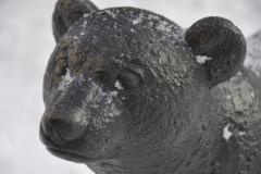 Invigning av björnstatyn